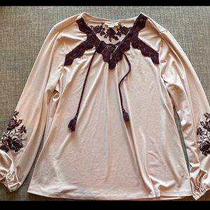 Style & Co embroidered top